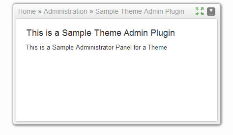Sample Theme Admin Plugin